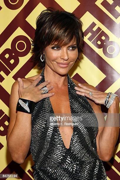 Actress Lisa Rinna arrives at the official HBO after party for the 66th Annual Golden Globe Awards held at Circa 55 Restaurant Poolside at the...