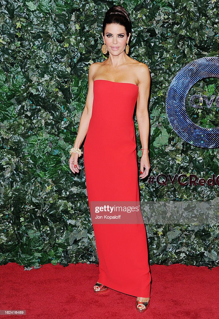 Actress Lisa Rinna arrives at the QVC Red Carpet Style Party at Four Seasons Hotel Los Angeles at Beverly Hills on February 22, 2013 in Beverly Hills, California.