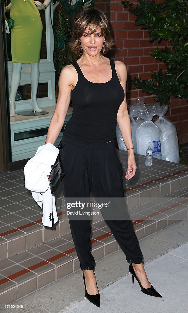 Actress <a gi-track='captionPersonalityLinkClicked' href=/galleries/search?phrase=Lisa+Rinna&family=editorial&specificpeople=202100 ng-click='$event.stopPropagation()'>Lisa Rinna</a> attends a fashion fundraiser benefitting Children's Hospital of Los Angeles hosted by Kyle Richards at Kyle by Alene Too on June 26, 2013 in Beverly Hills, California.