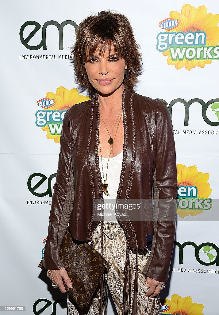 Actress Lisa Rinna attends Celebrities and the EMA Help Green Works Launch New Campaign at Sur Restaurant on January 23, 2013 in Los Angeles, California.