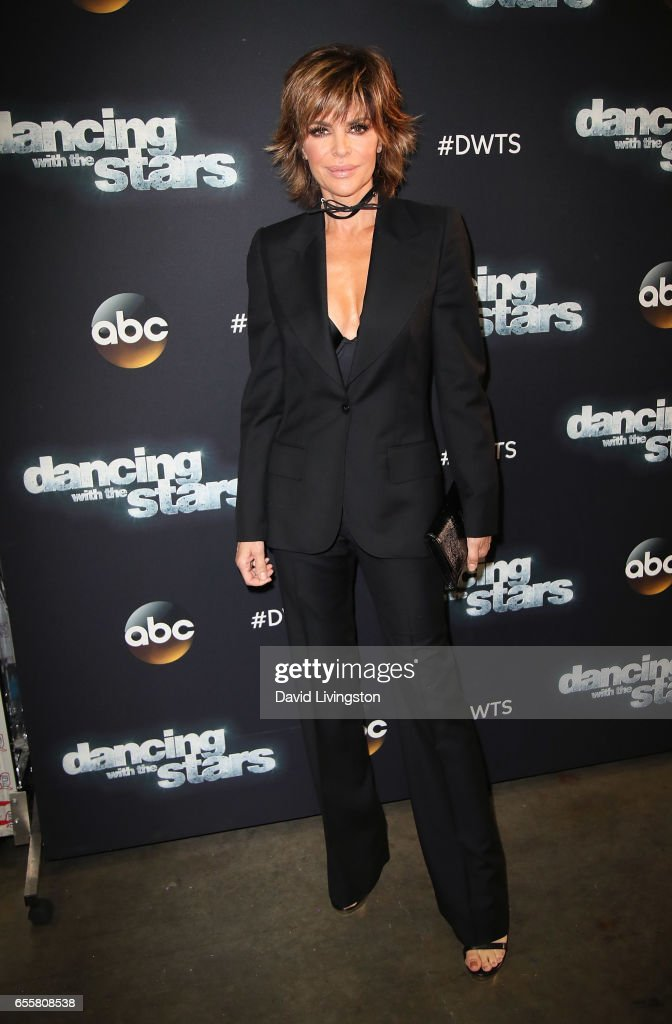 Actress Lisa Rinna attends 'Dancing with the Stars' Season 24 premiere at CBS Televison City on March 20, 2017 in Los Angeles, California.