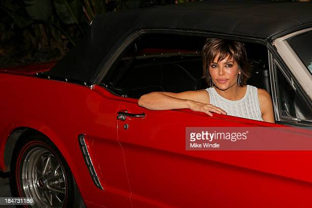 Actress Lisa Rinna attends Ford Motor Company and Decades LA explore five decades of the Mustang music and iconic fashion at The Standard Hotel on...