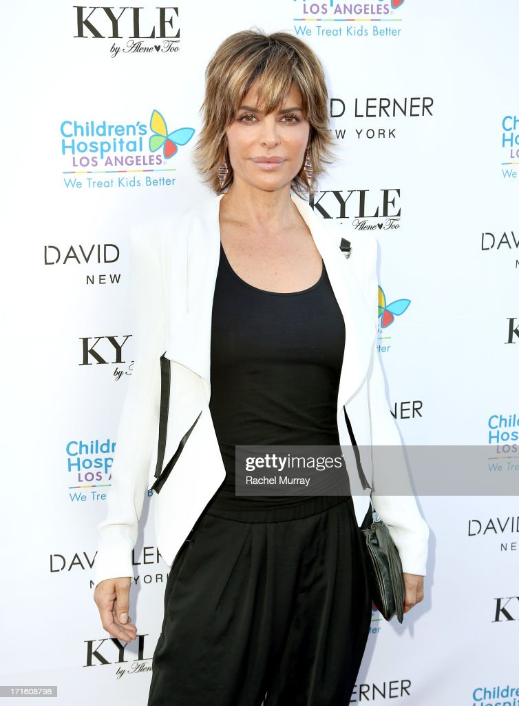 Actress <a gi-track='captionPersonalityLinkClicked' href=/galleries/search?phrase=Lisa+Rinna&family=editorial&specificpeople=202100 ng-click='$event.stopPropagation()'>Lisa Rinna</a> attends Kyle Richards hosts a Fashion Fundraiser for Children's Hospital Los Angeles at Kyle By Alene Too on June 26, 2013 in Beverly Hills, California.
