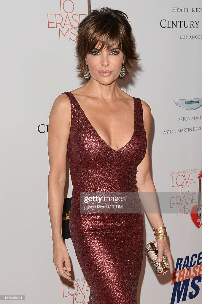 Actress Lisa Rinna attends the 20th Annual Race To Erase MS Gala 'Love To Erase MS' at the Hyatt Regency Century Plaza on May 3, 2013 in Century City, California.