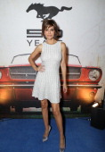 Actress Lisa Rinna attends the Ford Motor Company and Christos Garkinos of Decades LA Celebration of 50 years of Mustang and Fashion at the Standard...
