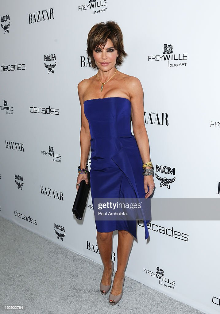 Actress Lisa Rinna attends the Harper's BAZAAR celebration for the new Bravo series 'Dukes of Melrose' at The Terrace at Sunset Tower on February 28, 2013 in West Hollywood, California.