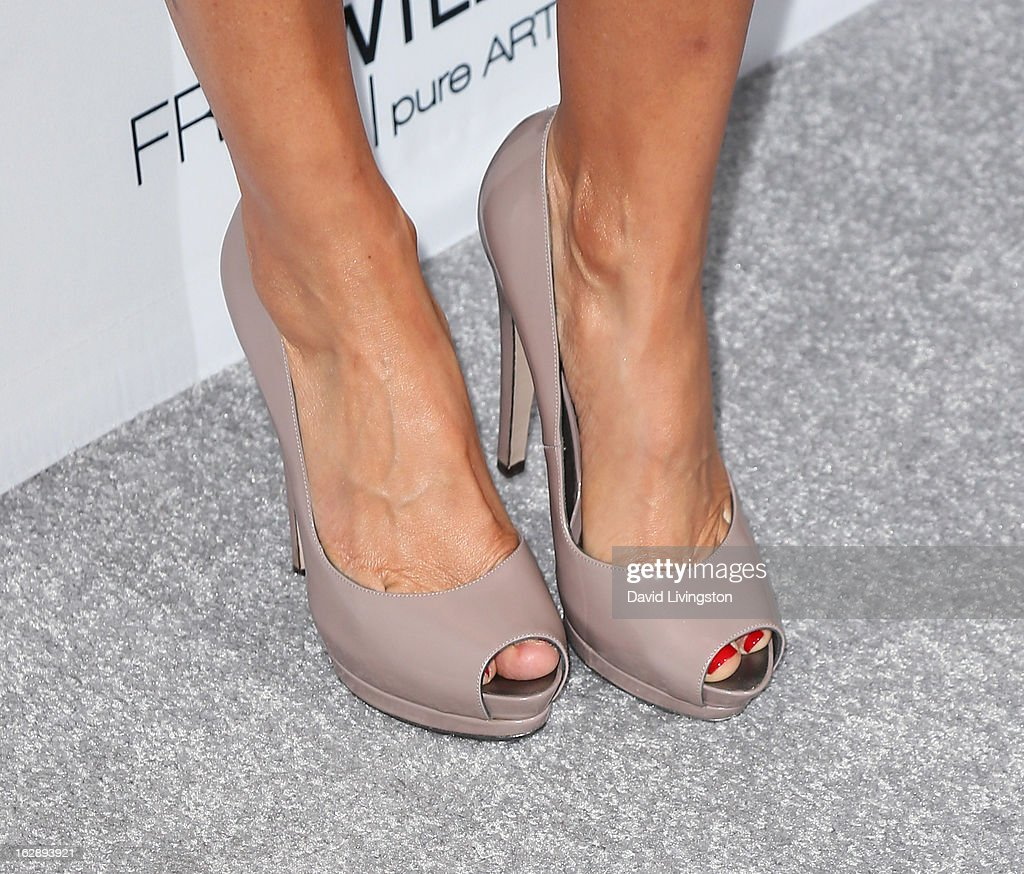 Actress Lisa Rinna (shoe detail) attends the Harper's BAZAAR celebration of Cameron Silver and Christos Garkinos of Decades new Bravo series 'Dukes of Melrose' at The Terrace at Sunset Tower on February 28, 2013 in West Hollywood, California.