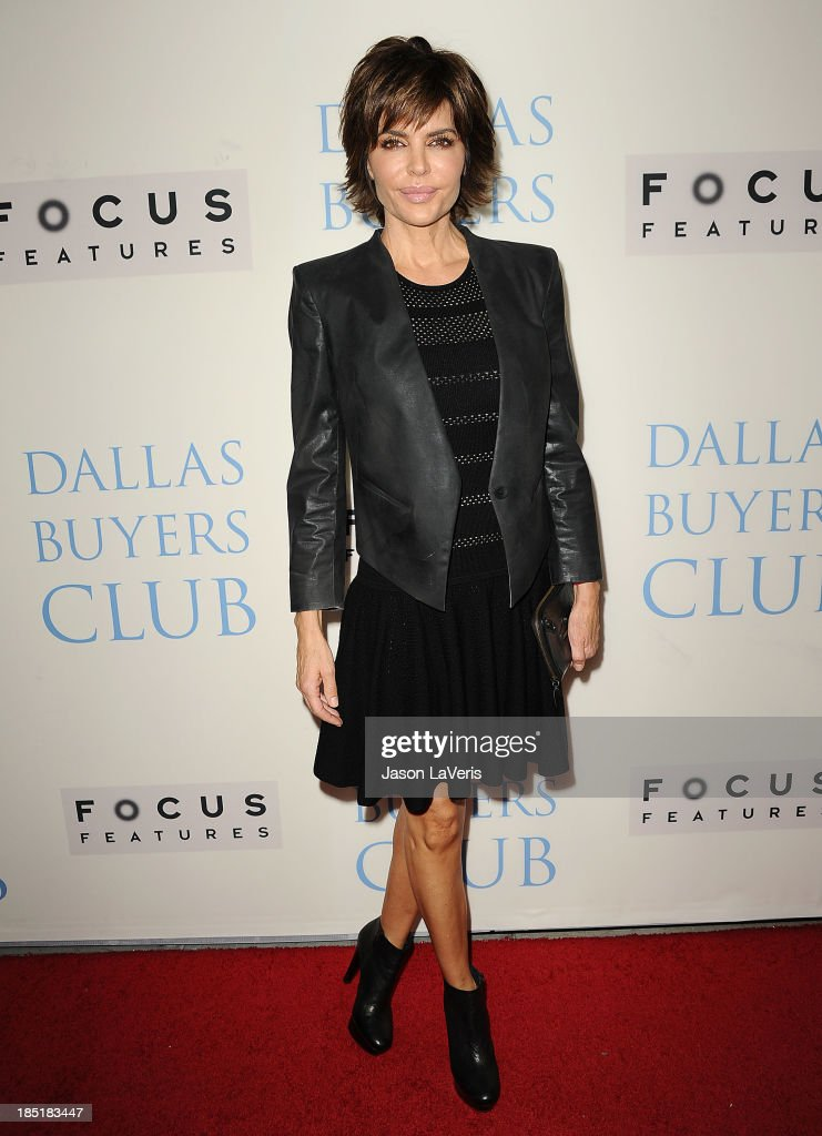 Actress <a gi-track='captionPersonalityLinkClicked' href=/galleries/search?phrase=Lisa+Rinna&family=editorial&specificpeople=202100 ng-click='$event.stopPropagation()'>Lisa Rinna</a> attends the premiere of 'Dallas Buyers Club' at the Academy of Motion Picture Arts and Sciences on October 17, 2013 in Beverly Hills, California.