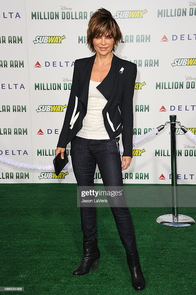 Actress Lisa Rinna attends the premiere of 'Million Dollar Arm' at the El Capitan Theatre on May 6, 2014 in Hollywood, California.