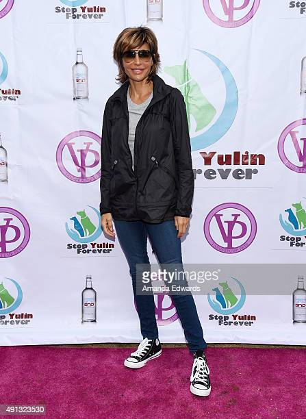 Actress Lisa Rinna attends the StopYulinForever March to End Dog Cruelty in Yulin China at MaCarthur Park Recreation Center on October 4 2015 in Los...
