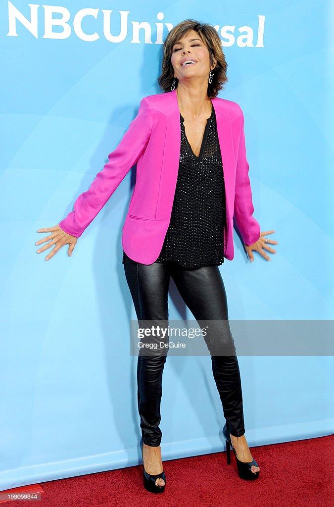 Actress Lisa Rinna poses at the 2013 NBC Universal TCA Winter Press Tour Day 1 at The Langham Huntington Hotel and Spa on January 6, 2013 in Pasadena, California.