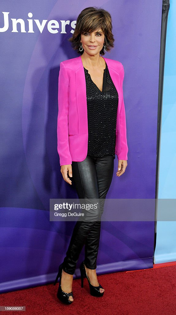 Actress Lisa Rinna poses at the 2013 NBC Universal TCA Winter Press Tour Day 1 at The Langham Huntington Hotel and Spa on January 6, 2013 in Pasadena, California.