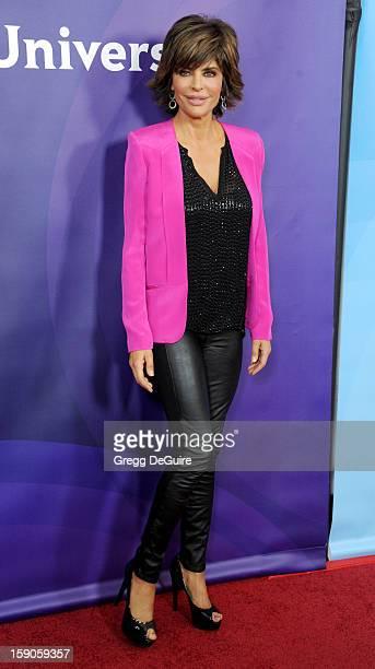 Actress Lisa Rinna poses at the 2013 NBC Universal TCA Winter Press Tour Day 1 at The Langham Huntington Hotel and Spa on January 6 2013 in Pasadena...