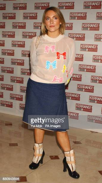 Actress Lisa Rogers arriving at the Hilton Park Lane Hotel in London for the Kerrang Awards