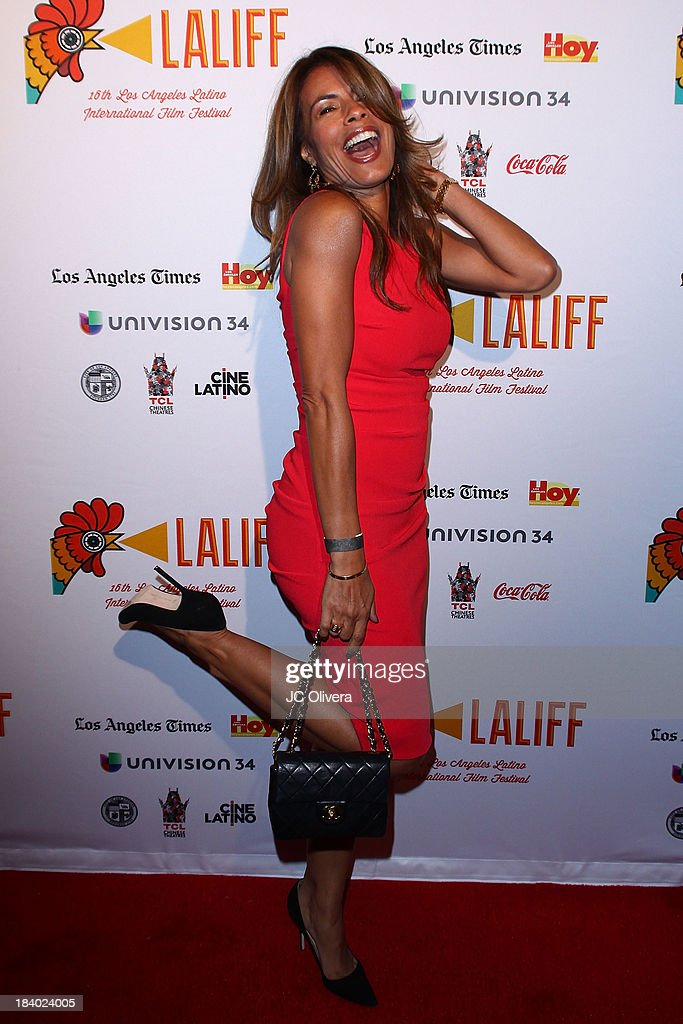 Actress <a gi-track='captionPersonalityLinkClicked' href=/galleries/search?phrase=Lisa+Vidal&family=editorial&specificpeople=665925 ng-click='$event.stopPropagation()'>Lisa Vidal</a> attends The 2013 Los Angeles Latino International Film Festival - Opening Night Gala Premiere of 'Pablo' at the El Capitan Theatre on October 10, 2013 in Hollywood, California.