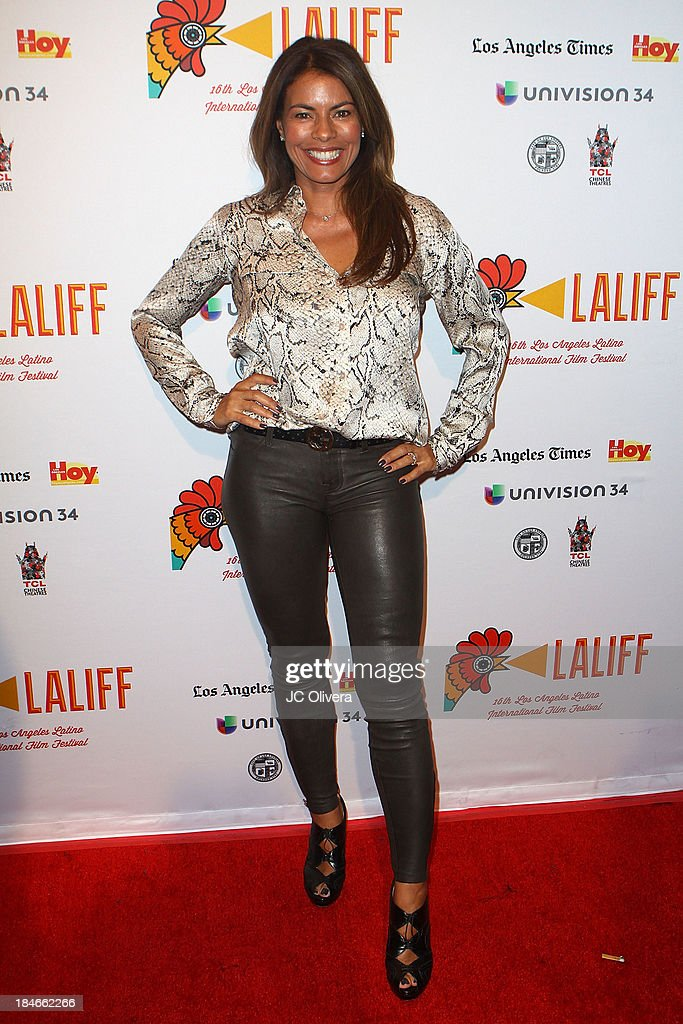 Actress <a gi-track='captionPersonalityLinkClicked' href=/galleries/search?phrase=Lisa+Vidal&family=editorial&specificpeople=665925 ng-click='$event.stopPropagation()'>Lisa Vidal</a> attends The 2013 Los Angeles Latino International Film Festival - Closing Night Premiere of 'Nosotros Los Nobles' at The Orpheum Theatre on October 14, 2013 in Los Angeles, California.