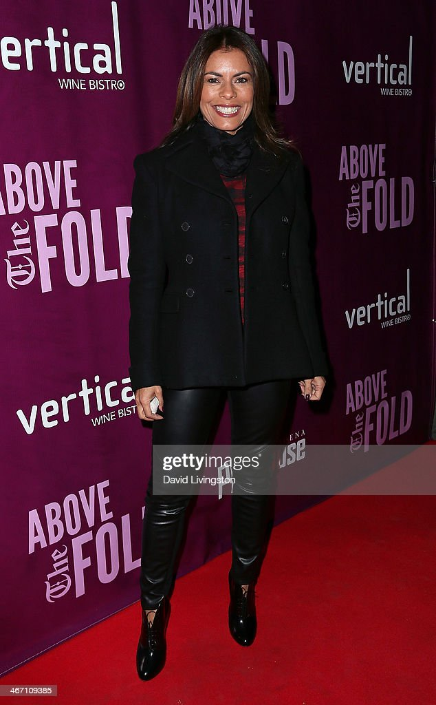 Actress Lisa Vidal attends the opening night performance of 'Above the Fold' at the Pasadena Playhouse on February 5, 2014 in Pasadena, California.