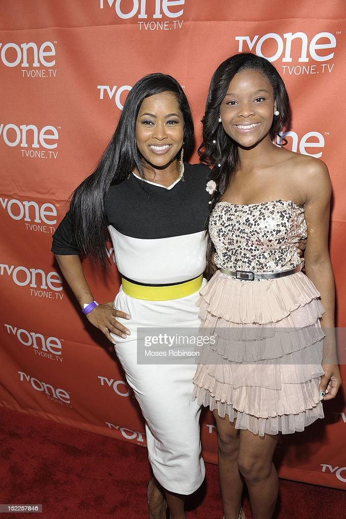 Actress Lisa Wu and actress Noree Victoria attend TV One BobbCat Films premiere for latest sitcom 'The Rickey Smiley Show' at The Buckhead Theater on...