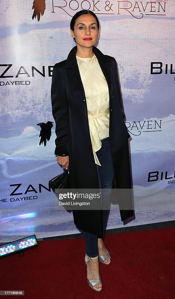 Actress Lisa Zane attends the opening night of Billy Zane's 'Seize The Day Bed' solo art exhibition at G+ Gulla Jonsdottir Design on August 21, 2013 in Los Angeles, California.