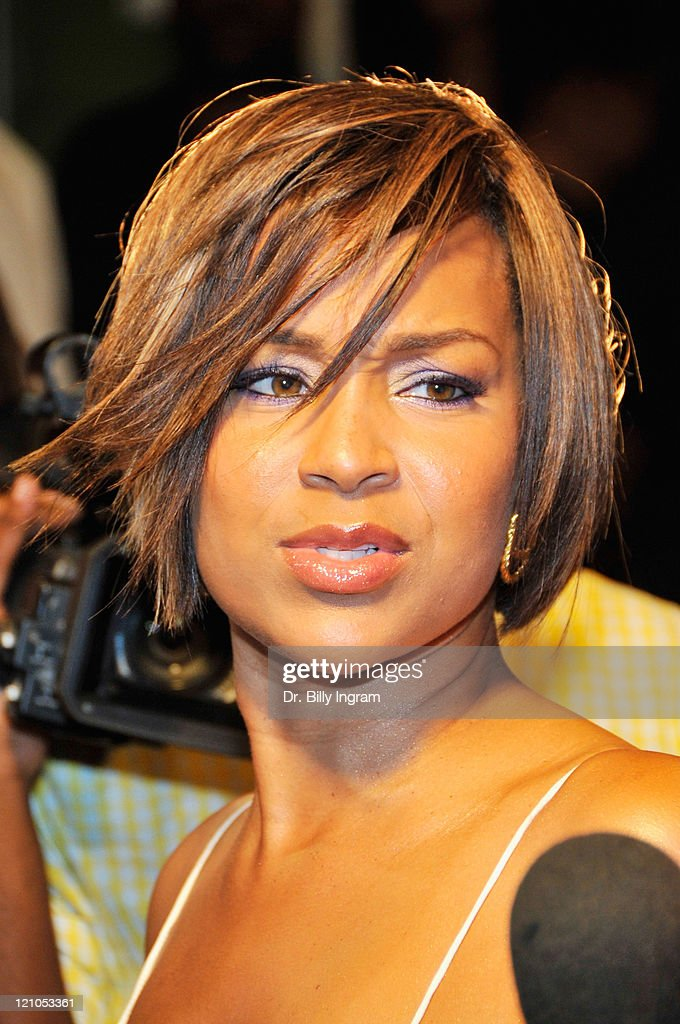 Actress LisaRaye arrives on the red carpet as she Celebrates her Birthday with Benefit for Hurricane Ike Victims at The Area September 23 2008 West...