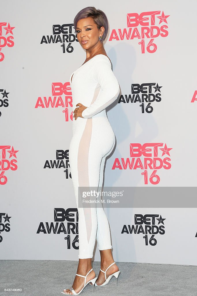 Actress LisaRaye poses in the press room during the 2016 BET Awards at the Microsoft Theater on June 26, 2016 in Los Angeles, California.