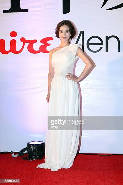 Actress Liu Shishi attends Esquire Men of the Year 2011 Awards Ceremony at Tsinghua University on December 11 2011 in Beijing China