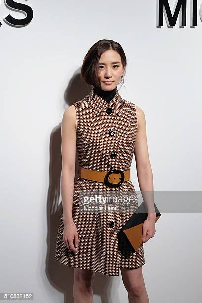 Actress Liu Shishi attends the Michael Kors Fall 2016 Runway Show during New York Fashion Week The Shows at Spring Studios on February 17 2016 in New...