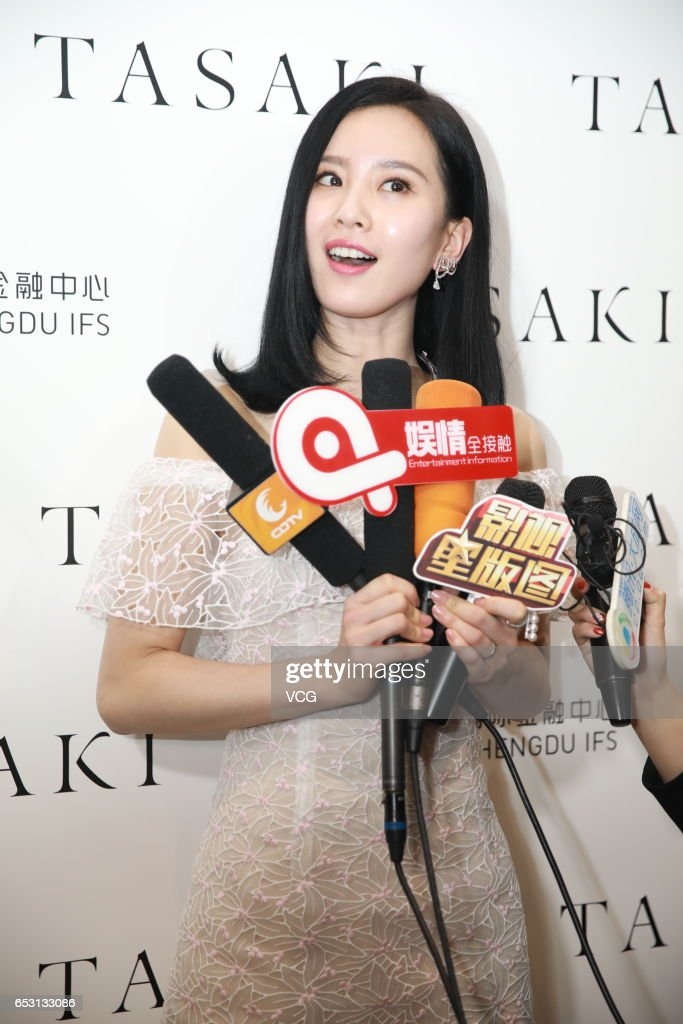 Actress Liu Shishi promotes jewelry brand Tasaki at Chengdu International Finance Square on March 14, 2017 in Chengdu, Sichuan Province of China.