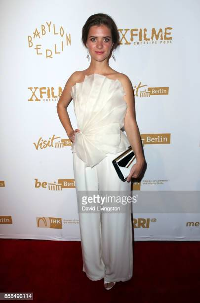 Actress Liv Lisa Fries attends the premiere of Beta Film's 'Babylon Berlin' at The Theatre at Ace Hotel on October 6 2017 in Los Angeles California