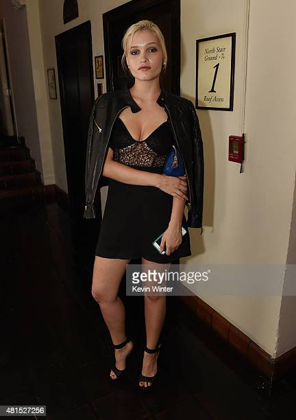 Actress Liv Mathis poses at the after party for the premiere of DIRECTV's 'Dark Places' at the Chateau Marmont on July 21 2015 in Los Angeles...