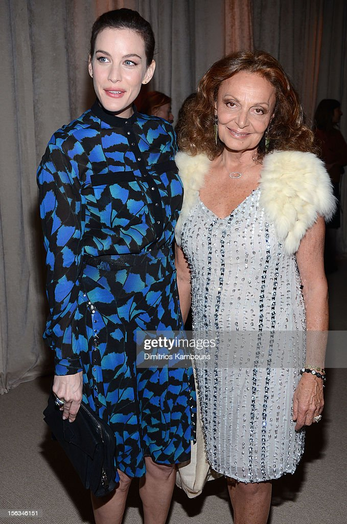 Actress <a gi-track='captionPersonalityLinkClicked' href=/galleries/search?phrase=Liv+Tyler&family=editorial&specificpeople=202094 ng-click='$event.stopPropagation()'>Liv Tyler</a> and designer Diane von Furstenberg attend The Ninth Annual CFDA/Vogue Fashion Fund Awards at 548 West 22nd Street on November 13, 2012 in New York City.