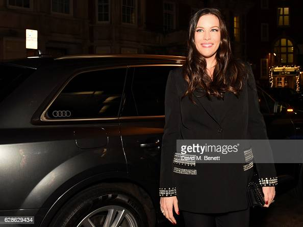 Actress Liv Tyler arrives in an Audi at the Evening Standard Film Awards 2016 on December 8 2016 in London England