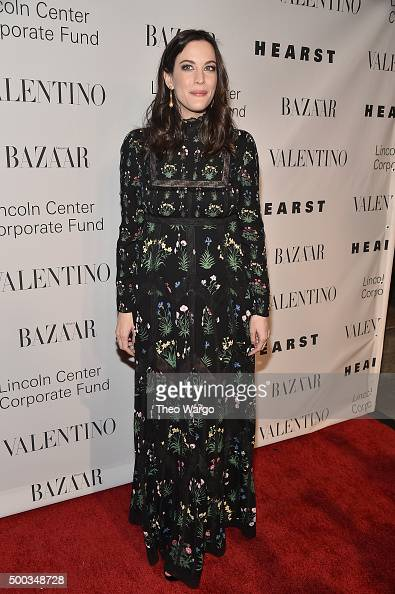Actress Liv Tyler attends 'An Evening Honoring Valentino' Lincoln Center Corporate Fund Gala at Alice Tully Hall at Lincoln Center on December 7 2015...