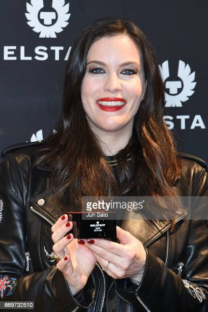 Actress Liv Tyler attends the Belstaff Ginza Flagshipstore Opening event at the Ginza Six on April 18 2017 in Tokyo Japan