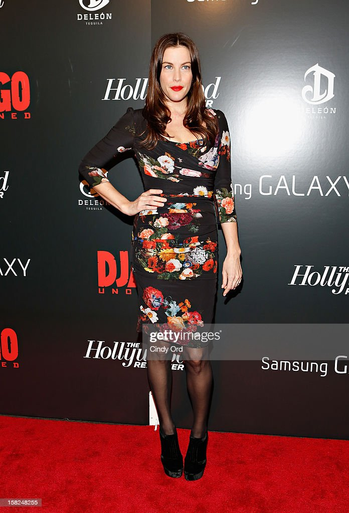 Actress Liv Tyler attends the Django Unchained NY premiere at Ziegfeld Theatre on December 11, 2012 in New York City.