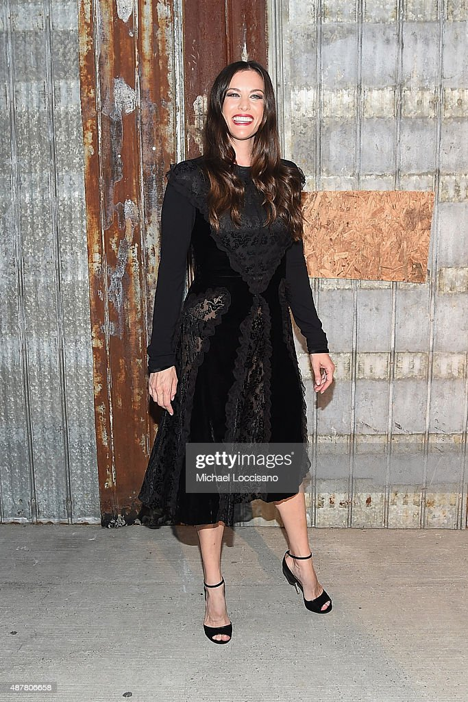 Actress Liv Tyler attends the Givenchy fashion show during Spring 2016 New York Fashion Week at Pier 26 at Hudson River Park on September 11, 2015 in New York City.