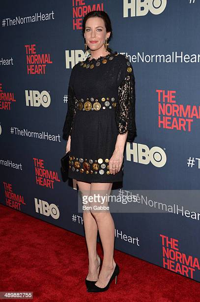 Actress Liv Tyler attends the New York premiere of 'The Normal Heart' at Ziegfeld Theater on May 12 2014 in New York City