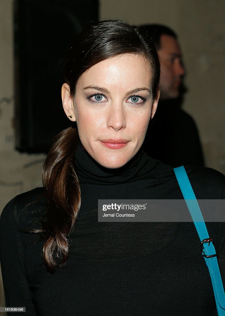 Actress <a gi-track='captionPersonalityLinkClicked' href=/galleries/search?phrase=Liv+Tyler&family=editorial&specificpeople=202094 ng-click='$event.stopPropagation()'>Liv Tyler</a> attends the Proenza Schouler fall 2013 fashion show during Mercedes-Benz Fashion Week on February 13, 2013 in New York City.