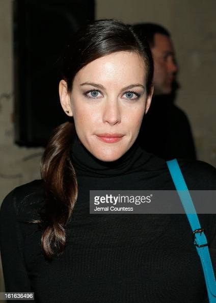 Actress Liv Tyler attends the Proenza Schouler fall 2013 fashion show during MercedesBenz Fashion Week on February 13 2013 in New York City