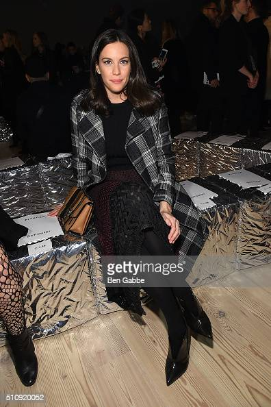 Actress Liv Tyler attends the Proenza Schouler fashion show during Fall 2016 New York Fashion Week at the Whitney Museum on February 17 2016 in New...