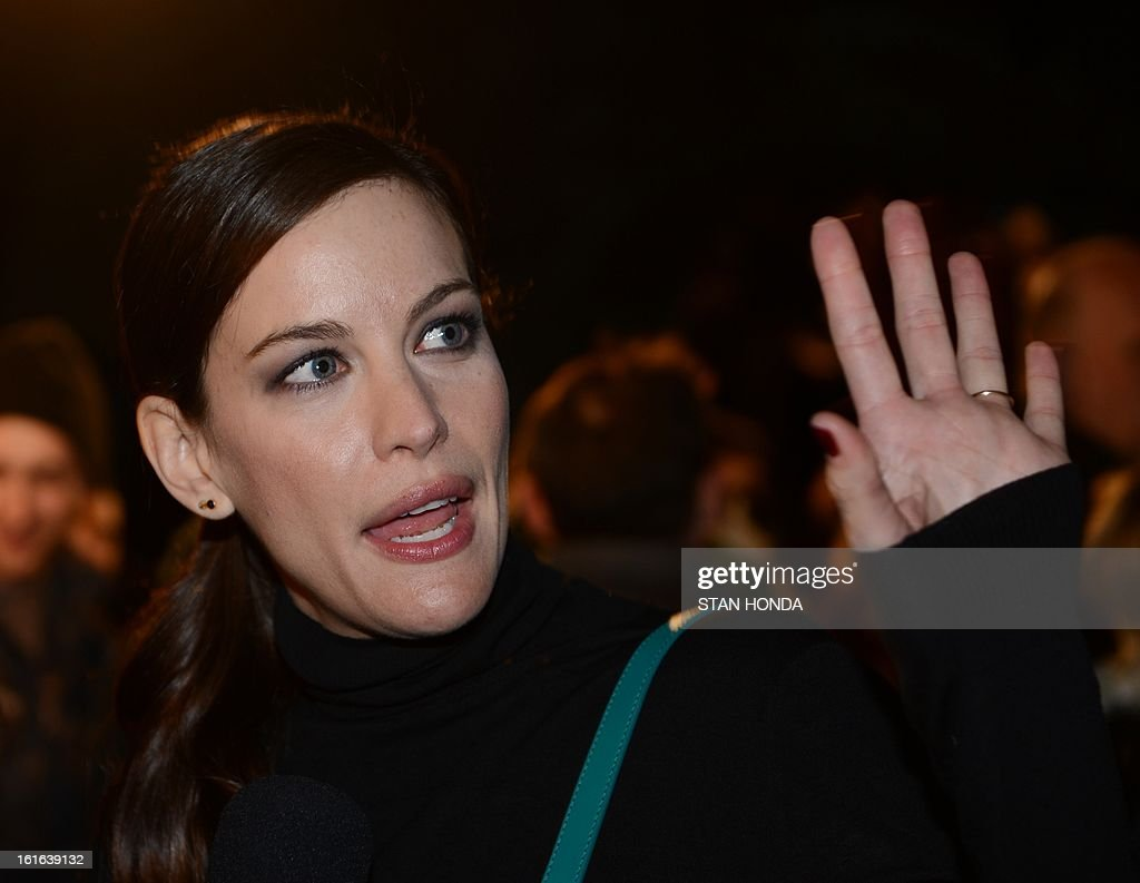 Actress Liv Tyler attends the Proenza Schouler show during the Mercedes-Benz Fashion Week Fall 2013 collections on February 13, 2013 in New York. AFP PHOTO/Stan HONDA