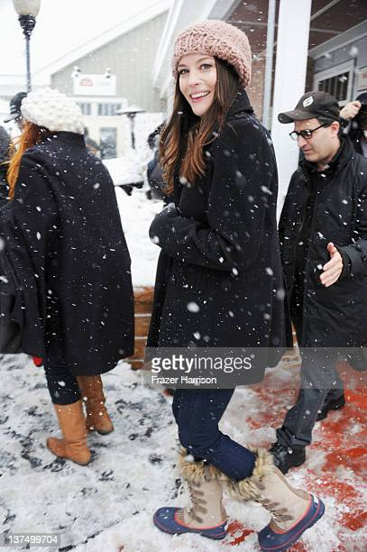 Actress Liv Tyler attends the Stella Cafe At TMobile Google Music Village At The Lift Day 2 during the Sundance Film Festival on January 21 2012 in...