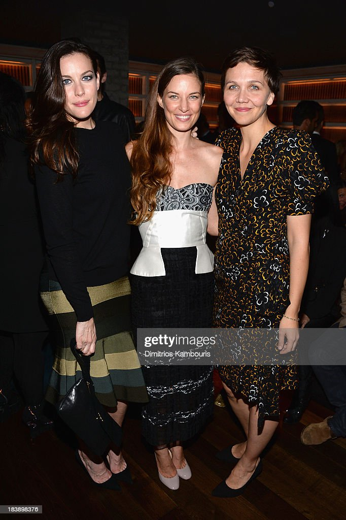 Actress Liv Tyler, Founder and Executive Director of The Lunchbox Fund Topaz Page-Green, and actress Maggie Gyllenhaal attend The Lunchbox Fund Fall Fête at Buddakan, New York on October 9, 2013 in New York City.