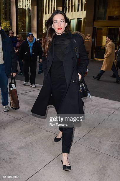 Actress Liv Tyler leaves the Sirius XM Studios on November 20 2013 in New York City