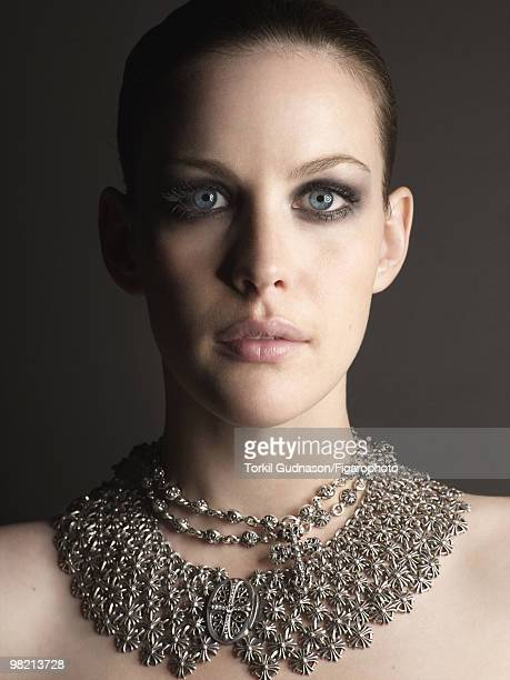 Actress Liv Tyler poses at a portrait session for Madame Figaro Magazine in 2006 Necklace by Chrome Hearts CREDIT MUST READ Torkil...
