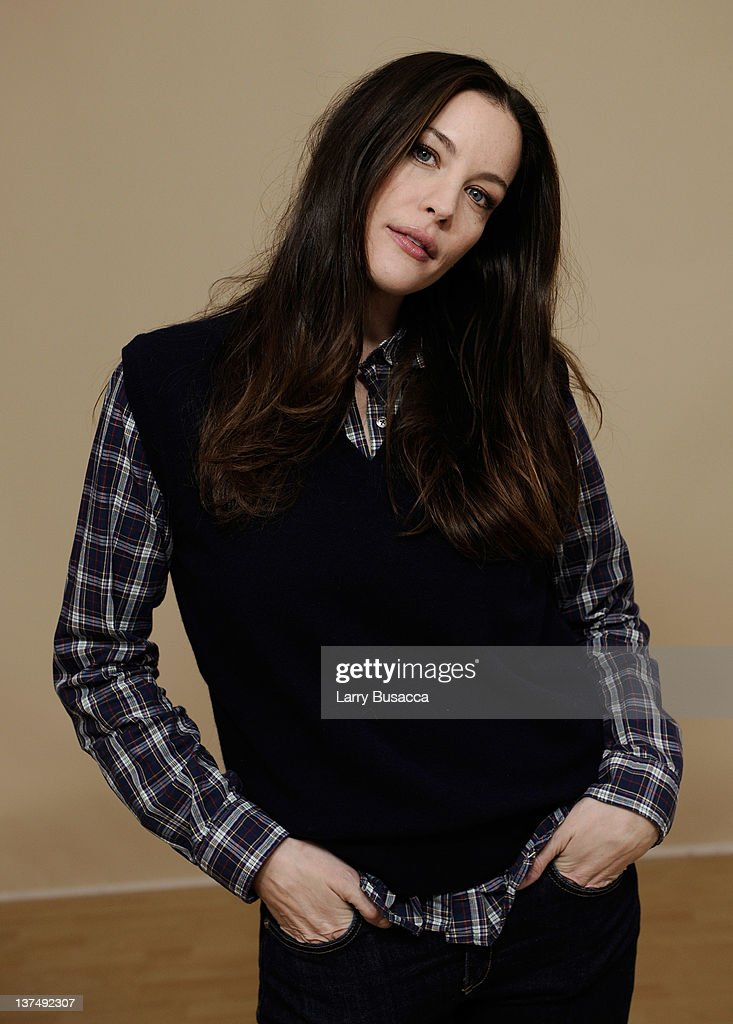 Actress <a gi-track='captionPersonalityLinkClicked' href=/galleries/search?phrase=Liv+Tyler&family=editorial&specificpeople=202094 ng-click='$event.stopPropagation()'>Liv Tyler</a> poses for a portrait during the 2012 Sundance Film Festival at the Getty Images Portrait Studio at T-Mobile Village at the Lift on January 21, 2012 in Park City, Utah.