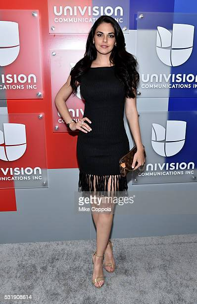 Actress Livia Brito attends Univision's 2016 Upfront Red Carpet at Gotham Hall on May 17 2016 in New York City