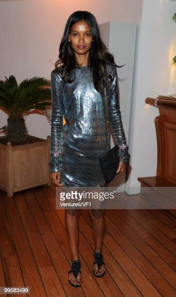 Actress Liya Kebede attends the Vanity Fair and Gucci Party Honoring Martin Scorsese during the 63rd Annual Cannes Film Festival at the Hotel Du Cap...