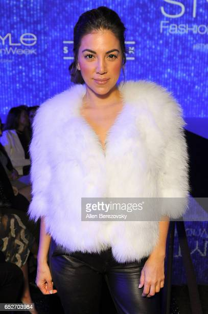 Actress Liz Hernandez attends the debut of Thomas Wylde's 'Warrior II' collection at Pacific Design Center on March 12 2017 in West Hollywood...