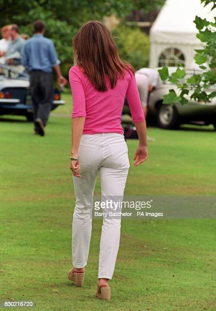 Actress Liz Hurley at the start of the Trivial Pursuit Rally at Sudeley Castle
